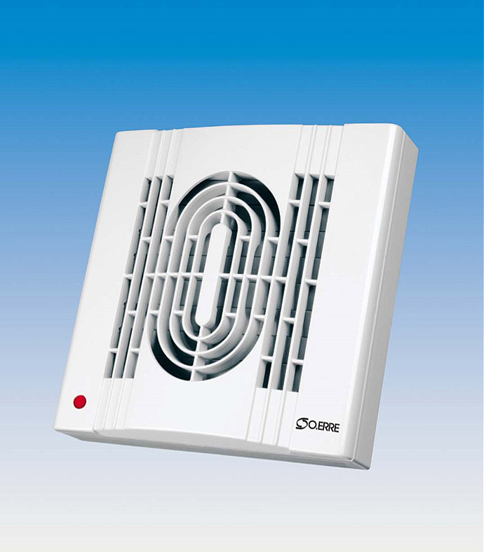 O.Erre Extractor Fan with Automatic Shutter & Timer