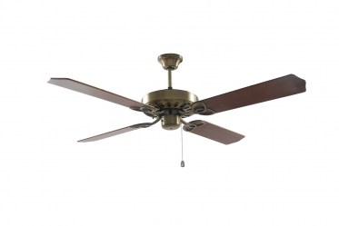 Sylaska Reversible Ceiling Fan - Antique Brass