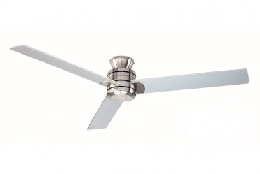 Sylaska 1.27m Blades - Reversible Ceiling Fan no down rod - Brushed Nickel